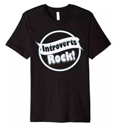 introverts rock tshirt black